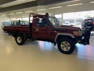 2017 Toyota Landcruiser VDJ79R GX (4x4) Red 5 Speed Manual Cab Chassis.