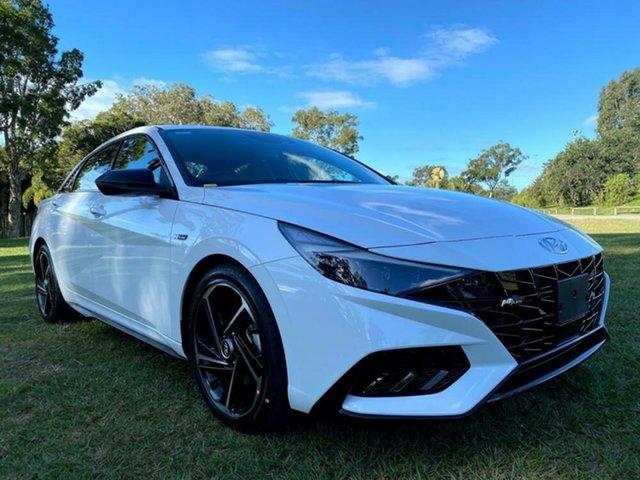 New Hyundai i30 CN7.V1 MY21 N Line Mount Gravatt, 2021 Hyundai i30 CN7.V1 MY21 N Line Polar White 6 Speed Manual Sedan