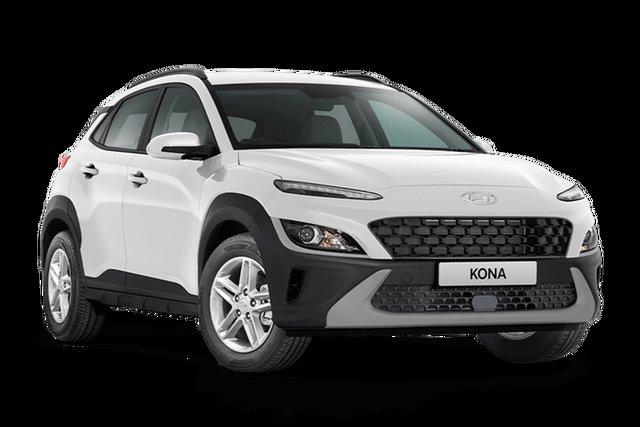 Demo Hyundai Kona Os.v4 MY21 2WD Cardiff, 2021 Hyundai Kona Os.v4 MY21 2WD Atlas White 8 Speed Constant Variable Wagon