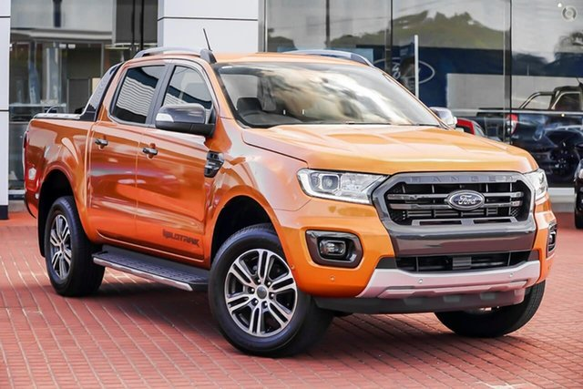 New Ford Ranger PX MkIII 2021.25MY Wildtrak Oakleigh, 2020 Ford Ranger PX MkIII 2021.25MY Wildtrak Orange 10 Speed Sports Automatic Double Cab Pick Up