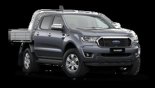 2021 Ford Ranger PX MkIII 2021.25MY XLT Double Cab Meteor Grey 10 Speed Sports Automatic.