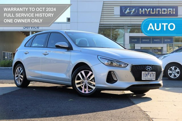 Used Hyundai i30 PD2 MY19 Active South Melbourne, 2019 Hyundai i30 PD2 MY19 Active Silver 6 Speed Sports Automatic Hatchback