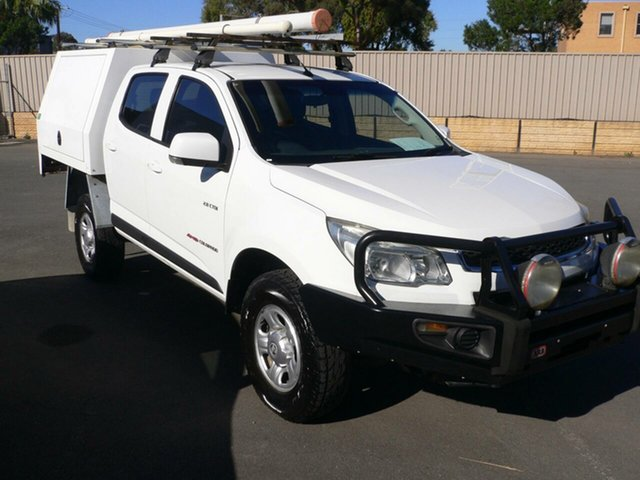 Used Holden Colorado RG MY13 LX Crew Cab St Marys, 2013 Holden Colorado RG MY13 LX Crew Cab White 5 Speed Manual Utility