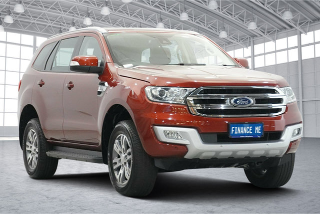 Used Ford Everest UA Trend Victoria Park, 2017 Ford Everest UA Trend Red 6 Speed Sports Automatic SUV