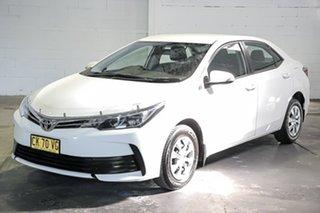 2017 Toyota Corolla ZRE172R Ascent S-CVT White 7 Speed Constant Variable Sedan.
