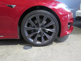 2018 Tesla Model S MY18 75D Red 1 Speed Automatic Hatchback.