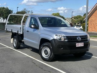 2013 Volkswagen Amarok 2H MY13 TSI300 4x2 Silver 6 Speed Manual Cab Chassis.