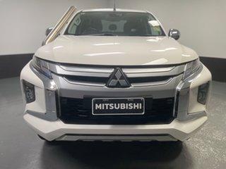 2019 Mitsubishi Triton MR MY20 GLS Double Cab White 6 Speed Manual Utility.