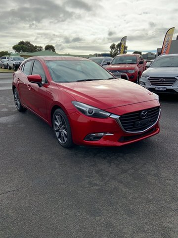 Used Mazda 3 BN5436 SP25 SKYACTIV-MT Astina Warrnambool East, 2018 Mazda 3 BN5436 SP25 SKYACTIV-MT Astina Red 6 Speed Manual Hatchback