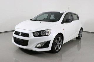 2013 Holden Barina TM MY14 RS White 6 Speed Manual Hatchback.