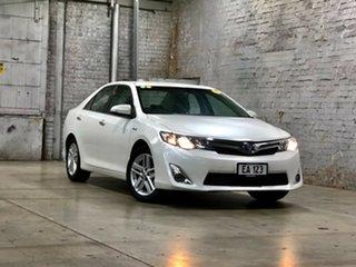 2013 Toyota Camry AVV50R Hybrid HL White 1 Speed Constant Variable Sedan Hybrid.