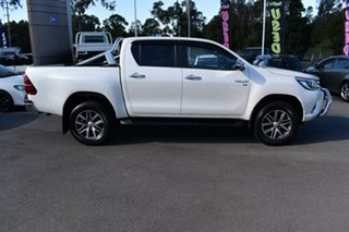 2016 Toyota Hilux GGN125R SR5 Double Cab White 6 Speed Sports Automatic Utility.