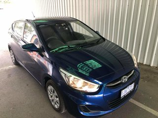 2016 Hyundai Accent RB4 MY16 Active Pacific Blue 6 Speed Constant Variable Hatchback.