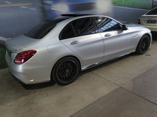 2018 Mercedes-AMG C63 S 205 MY18 Designo Iridium Silver 7 Speed Automatic Sedan.
