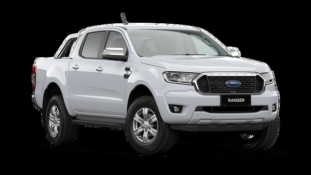 New Ford Ranger XLT Double Cab Hamilton, 2021 Ford Ranger PX MkIII XLT Double Cab Arctic White 6 Speed Automatic Pick Up