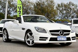 2014 Mercedes-Benz SLK-Class R172 SLK250 7G-Tronic + White 7 Speed Sports Automatic Roadster.