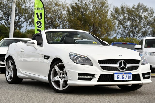 Used Mercedes-Benz SLK-Class R172 SLK250 7G-Tronic + Clarkson, 2014 Mercedes-Benz SLK-Class R172 SLK250 7G-Tronic + White 7 Speed Sports Automatic Roadster
