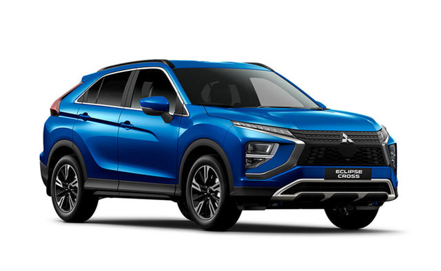 Demo Mitsubishi Eclipse Cross YB MY21 LS AWD Hamilton, 2020 Mitsubishi Eclipse Cross YB MY21 LS AWD Lightning Blue 8 Speed Constant Variable Wagon