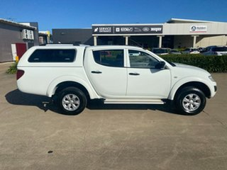 2013 Mitsubishi Triton MN MY14 GLX Double Cab White/260914 4 Speed Sports Automatic Utility.