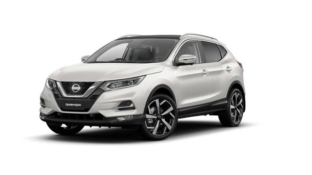 New Nissan Qashqai J11 Series 3 MY20 Ti X-tronic Hamilton, 2021 Nissan Qashqai J11 Series 3 MY20 Ti X-tronic Ivory Pearl 1 Speed Constant Variable Wagon