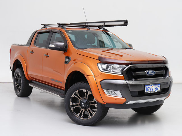 Used Ford Ranger PX MkII Wildtrak 3.2 (4x4), 2016 Ford Ranger PX MkII Wildtrak 3.2 (4x4) Orange 6 Speed Manual Dual Cab Pick-up