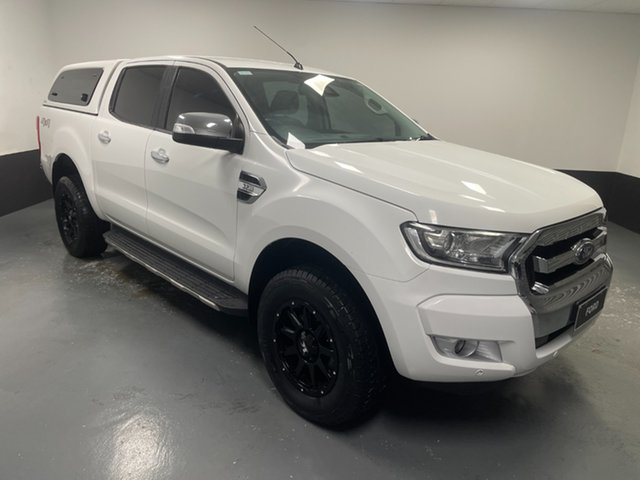 Used Ford Ranger PX MkII XLT Double Cab Rutherford, 2017 Ford Ranger PX MkII XLT Double Cab Cool White 6 Speed Sports Automatic Utility