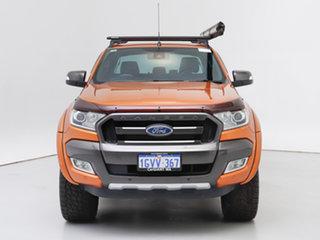 2016 Ford Ranger PX MkII Wildtrak 3.2 (4x4) Orange 6 Speed Manual Dual Cab Pick-up.