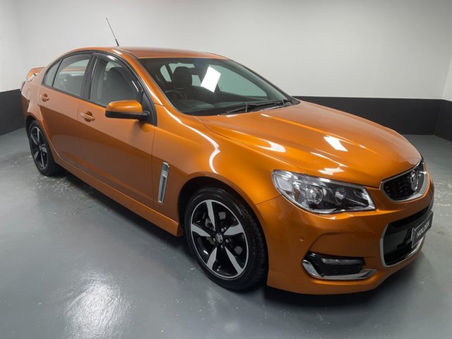 Used Holden Commodore VF II MY17 SV6 Hamilton, 2017 Holden Commodore VF II MY17 SV6 Orange 6 Speed Sports Automatic Sedan