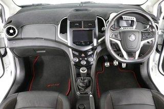 2013 Holden Barina TM MY14 RS White 6 Speed Manual Hatchback