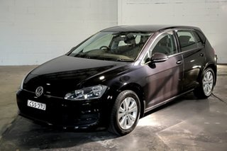 2014 Volkswagen Golf VII MY14 90TSI Comfortline Black 6 Speed Manual Hatchback.