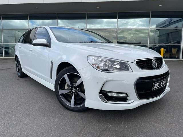 Used Holden Commodore VF II MY17 SV6 Sportwagon Essendon Fields, 2017 Holden Commodore VF II MY17 SV6 Sportwagon White 6 Speed Sports Automatic Wagon
