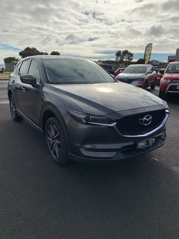 Used Mazda CX-5 KF4WLA GT SKYACTIV-Drive i-ACTIV AWD Warrnambool East, 2017 Mazda CX-5 KF4WLA GT SKYACTIV-Drive i-ACTIV AWD Grey 6 Speed Sports Automatic Wagon