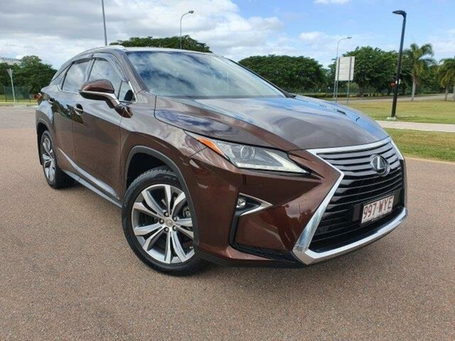 Used Lexus RX GGL25R RX350 Luxury Townsville, 2016 Lexus RX GGL25R RX350 Luxury Brown 8 Speed Sports Automatic Wagon