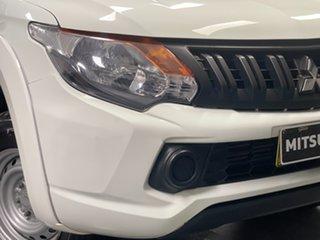 2018 Mitsubishi Triton MQ MY18 GLX Double Cab White 6 Speed Manual Cab Chassis.