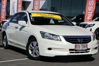 2012 Honda Accord 8th Gen MY11 VTi White 5 Speed Sports Automatic Sedan.