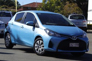2014 Toyota Yaris NCP130R Ascent Blue 5 Speed Manual Hatchback.