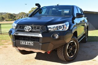 2018 Toyota Hilux GUN126R Rugged X Double Cab Black 6 Speed Sports Automatic Utility