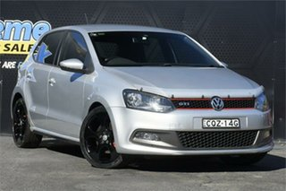 2012 Volkswagen Polo 6R MY12.5 GTI DSG Silver 7 Speed Sports Automatic Dual Clutch Hatchback.