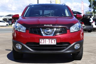 2012 Nissan Dualis J107 Series 3 MY12 +2 X-tronic AWD Ti-L Magnetic Red 6 Speed Constant Variable.
