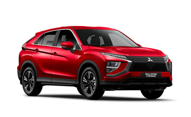 Demo Mitsubishi Eclipse Cross YB MY21 ES 2WD Hamilton, 2020 Mitsubishi Eclipse Cross YB MY21 ES 2WD Red Diamond 8 Speed Constant Variable Wagon