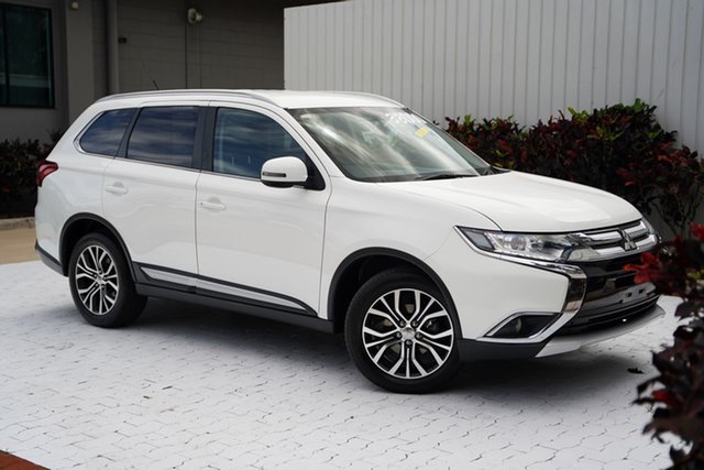 Used Mitsubishi Outlander ZK MY16 XLS 4WD Cairns, 2016 Mitsubishi Outlander ZK MY16 XLS 4WD White 6 Speed Sports Automatic Wagon