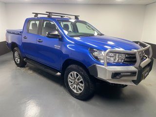 2017 Toyota Hilux GUN126R SR Double Cab Blue 6 Speed Sports Automatic Utility.