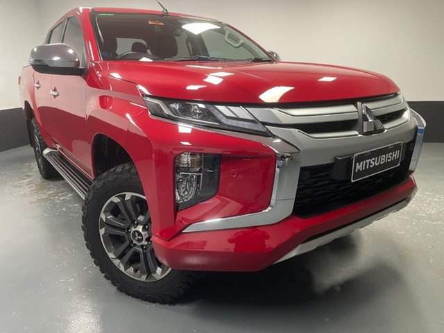 Used Mitsubishi Triton MR MY19 GLS Double Cab Cardiff, 2019 Mitsubishi Triton MR MY19 GLS Double Cab Red 6 Speed Sports Automatic Utility