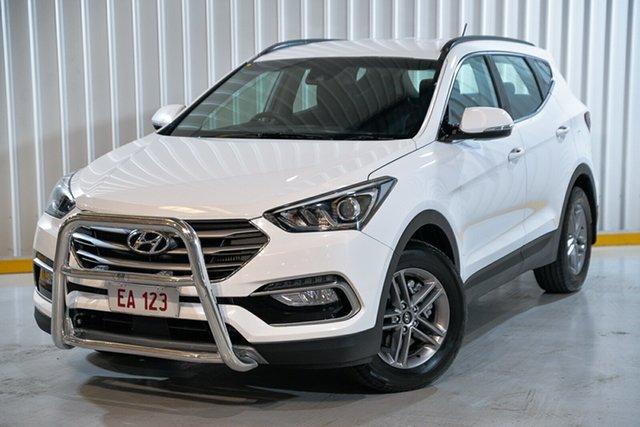 Used Hyundai Santa Fe DM5 MY18 Active Hendra, 2017 Hyundai Santa Fe DM5 MY18 Active White 6 Speed Sports Automatic Wagon