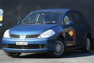 2008 Nissan Tiida C11 MY07 ST Blue 4 Speed Automatic Hatchback.