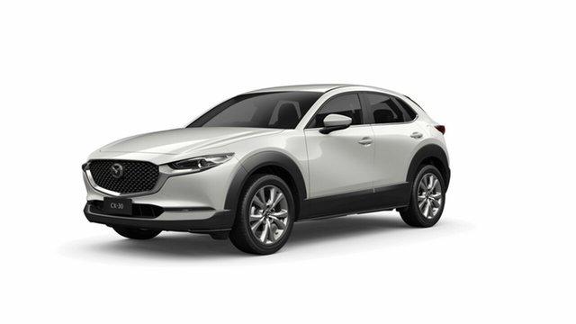 Demo Mazda CX-30 DM2W7A G20 SKYACTIV-Drive Evolve Toowoomba, 2021 Mazda CX-30 DM2W7A G20 SKYACTIV-Drive Evolve White 6 Speed Sports Automatic Wagon