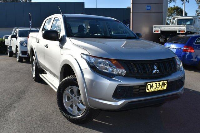 Used Mitsubishi Triton MQ MY17 GLX+ Double Cab Tuggerah, 2017 Mitsubishi Triton MQ MY17 GLX+ Double Cab Silver 5 Speed Sports Automatic Utility