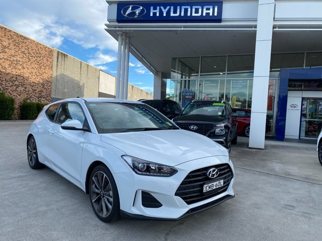 Demo Hyundai Veloster JS MY20 Coupe Cardiff, 2019 Hyundai Veloster JS MY20 Coupe Chalk White 6 Speed Automatic Hatchback