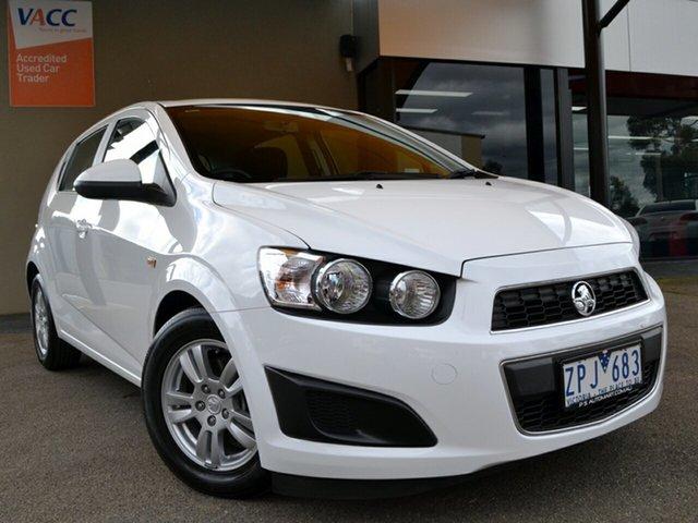 Used Holden Barina TM MY13 CD Fawkner, 2012 Holden Barina TM MY13 CD White 6 Speed Automatic Hatchback