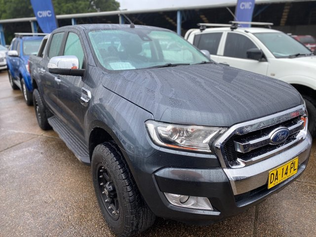 Used Ford Ranger PX MkII XLT Double Cab Wickham, 2016 Ford Ranger PX MkII XLT Double Cab Grey 6 Speed Sports Automatic Utility